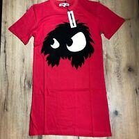 END OFF SUMMER SALE- MCQ ALEXANDER MCQUEEN Monster cotton-T-Shirt dress Red