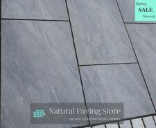 More details for black anthracite porcelain vitrified paving patio slabs tiles 600×900