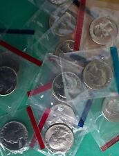 1980 - 1989 BU Washington Quarters 16 P & D Coins from US Mint Sets NO 1982 1983