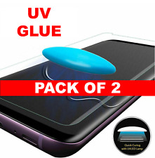2 PACK UV Tempered Glass Full Liquid Glue Screen Protector For Samsung Galaxy S8