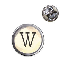 Letter W Typewriter Key Lapel Hat Tie Pin Tack