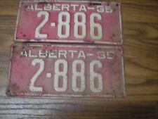 1935 Alberta 83 Year Old License Plate Set 2-886