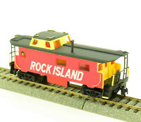 HO Scale Rock Island, RI End Cupola Caboose Custom Paint