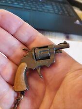 Vintage Miniature Keychain Ring Cap Gun Pistol Revolver Toy Collectible