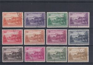 NORFOLK ISLAND 1947 Original Set to 2/- USED