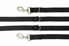 11ft Police Style Dog Training/Obedience Lead 25mm Cushion Webbing In Black