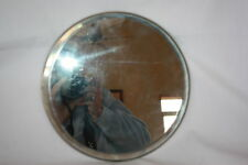 """WONDERFUL OLD ROUND BEVELED HEAVY FLAT MIRROR FOR DISPLAY OR DRESSER TOP 10"""""""
