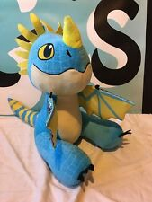 "Build a Bear How To Train Your Dragon Stormfly 16"" Plush Blue Dragon"