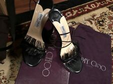 New! In Box Black 100 % Authentic Jimmy Choo Fashion Heels Size 40