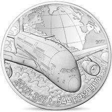 [#480818] France, Monnaie de Paris, 10 Euro, Avion A380, 2017, FDC, Argent