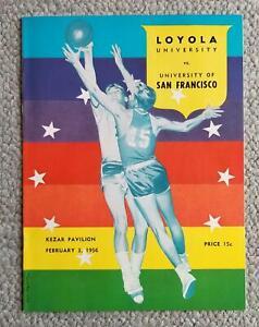 1956. University Of San Francisco Basketball Program. BILL RUSSELL  K.C.JONES #1