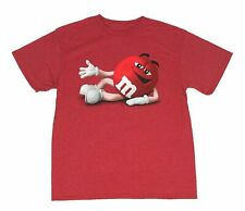 M&M's Men's T Shirt Chocolate Candy Red Graphic Tee