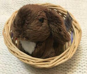 "American Girl Julie's pet rabbit ""Nutmeg"" with basket (read full description)"