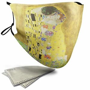 The Kiss Painting - Adult Face Masks - 2 Filters Included