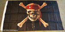 Disney Pirates of the Caribbean Skull Flag *VERY RARE* 2007 LARGE