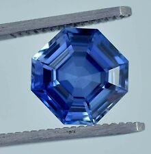 AAA Natural Flawless Royal Blue Sapphire Asscher Loose Cut Gemstone 10.50 MM