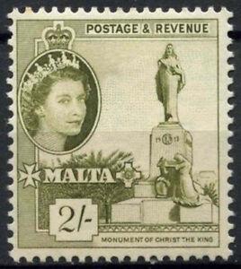 Malta 1956-1958 SG#278, 2s Olive Green QEII Definitive MH #A79625