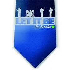Beatles Silk Tie Blue Let It Be Necktie Paul McCartney Ringo Star John Lennon