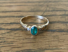 9ct Yellow Gold Ring With Emerald And Diamonds Size P