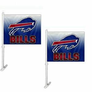 Buffalo Bills NFL Hombre Car Flag ( set of two )