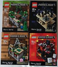 LEGO®  Cuusoo  Minecraft Sets 21102  21105  21106  21107  NEU & OVP / new sealed