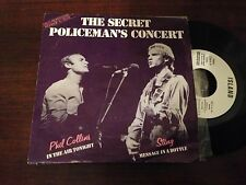 "STING POLICE PHIL COLLINS SPANISH WHITE LABEL 7"" SINGLE SPAIN SECRET POL CONCERT"