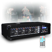 More details for 4 channel 800w bluetooth mixer amplifier with remote for live pa stage dj bands