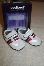 NEW! Baby Boys' Leather Pediped Tennis Shoes Fredrick Glacier Grey 0-6 months