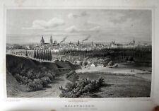 Maastricht van de St.Pietersberg gezien | Terwen Staalgravure