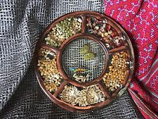 Old Collection Egg Holder with Embedded Grains, Seeds & Butterfly …beautiful tab