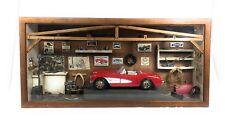 1957 Chevroler Corvette Scale With Accessories In Wooden Garage Shop Amazing!!!!