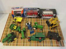 Lot of 12 Mixed Diecast Toys - Cars, Tractors ,Trucks