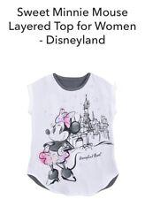 Disneyland Women's Sweet Minnie Mouse Layered Top Sz M