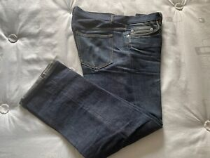 A.P.C. NEW  STANDARD JEAN RAW INDIGO - W33 - WELL WORN IN - not washed