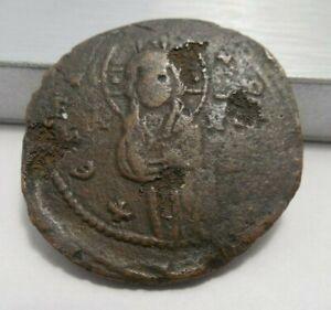 Byzantine Empire - Anonymous AE Follis - Class C - Michael IV 1034-41