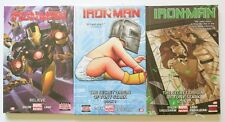 Iron Man Vol. 1 2 & 3 NEW Hardcover Marvel Now Graphic Novel Book