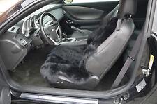 Autositz-Auflage Sitzbezug Lammfell für Ledersitze - Universell - schwarz