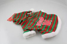 DOG CHRISTMAS COSTUME Top Santa Hat Puppy Pet Elf Xmas Outfit FAST POST