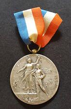 A0310 - Médaille Encouragement Aux Sports bronze argenté Rasumny attribuée 1910