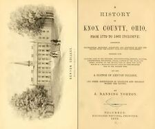1862 KNOX County Ohio OH, History and Genealogy Ancestry Family Tree DVD B14