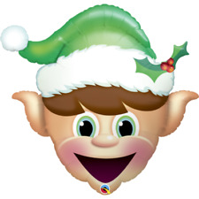 Party Supplies Decorations Festive Christmas Elf Head Shape Foil Balloon