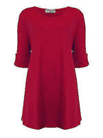 Womens Plus Size Top Ladies Slouch Fit Tunic Blouse New UK 16 18 20 22 24 26 28