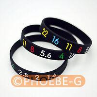 Photographer silicone bracelet Aperture style Wristband