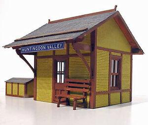 FLAGSTOP STATION S Scale Model Railroad Structure Unpainted Laser Wood Kit LA562