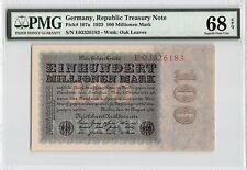 G//D IN STARS GERMANY 100000000 100 MILLION MARK 1923 XF P.107d WATERMARK