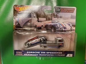 HOT WHEELS Magnus Walker Porsche 356 Speedster+VW Transporter (NEW)