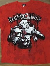 DEATH CLUTCH UFC MMA Mens T shirt- 2XL  XXL  silver metallic red black