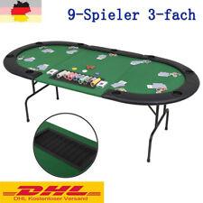 Pokertisch 9-Spieler 3-fach Pokerauflage Pokertable klappbar Casino Poker Tisch