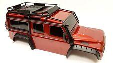 Traxxas trx-4 carrocería rojo incl. Marco, piezas, Rueda de repuesto etc.