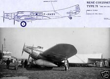 Couzinet Arc-en-Ciel 70 71 1930's Monoplane archive manual RARE HISTORIC